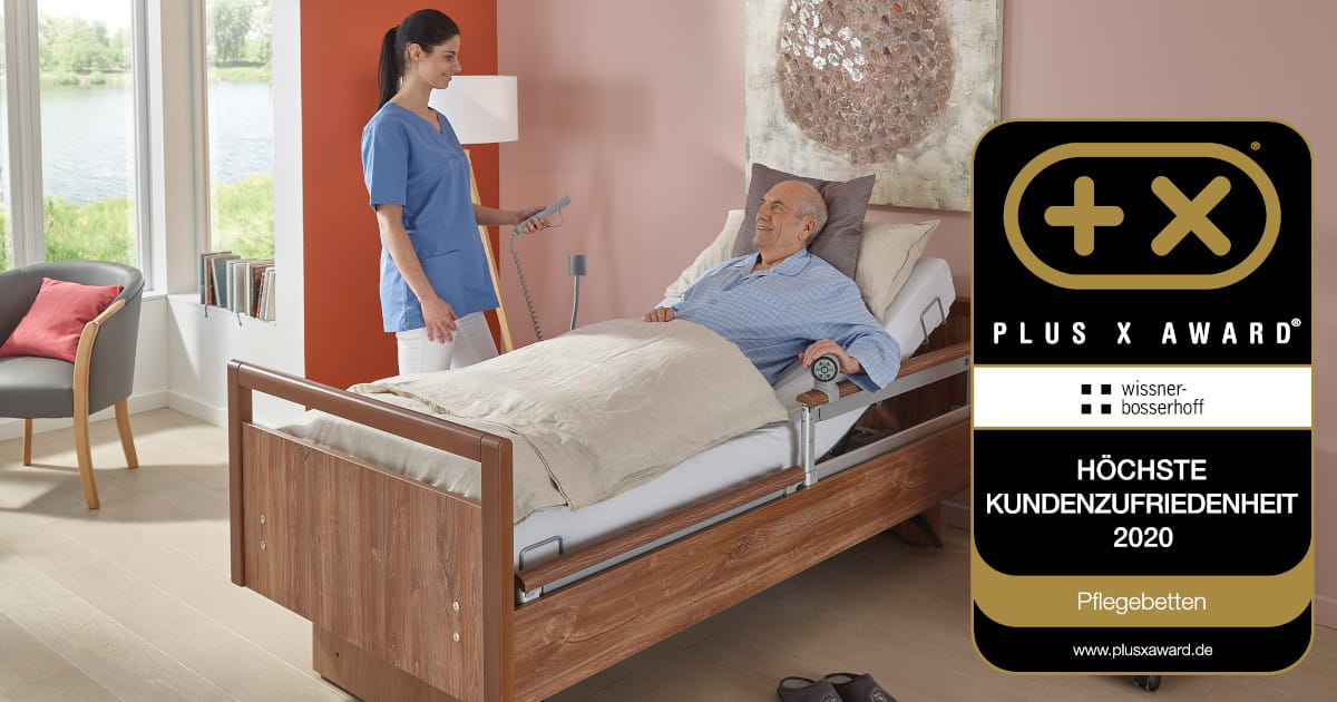 wissner-bosserhoff receives award for highest customer satisfaction Plus X Award in the category healthcare beds