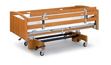 Side rail extension for beds with continuous side rails